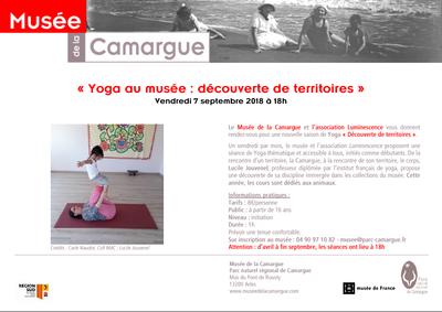 Yoga - Maison de la Camargue  - Rentée 2018